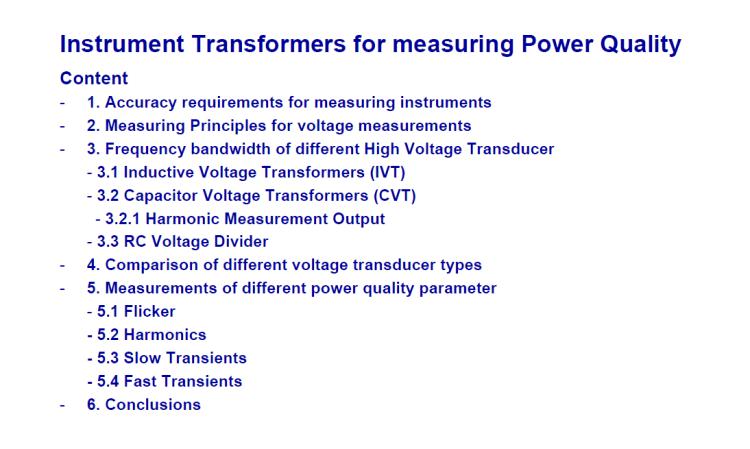 Instrument transformer for measuring power quality_slide2