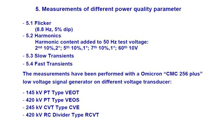 Instrument transformer for measuring power quality_slide21