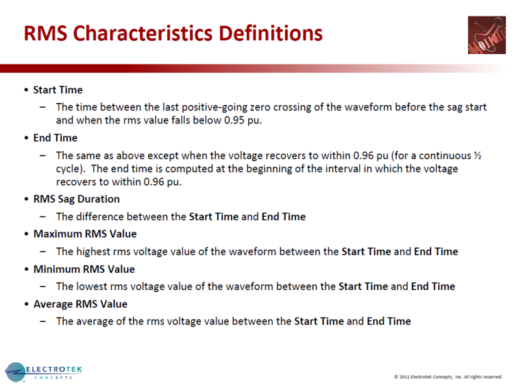 Characterizing Voltage Sag Waveforms using IEEE P1159.2 Algorithms_9