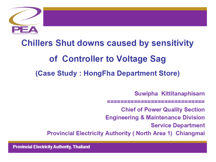 Chillers Shut downs caused by sensitivity of Controller to Voltage Sag_1