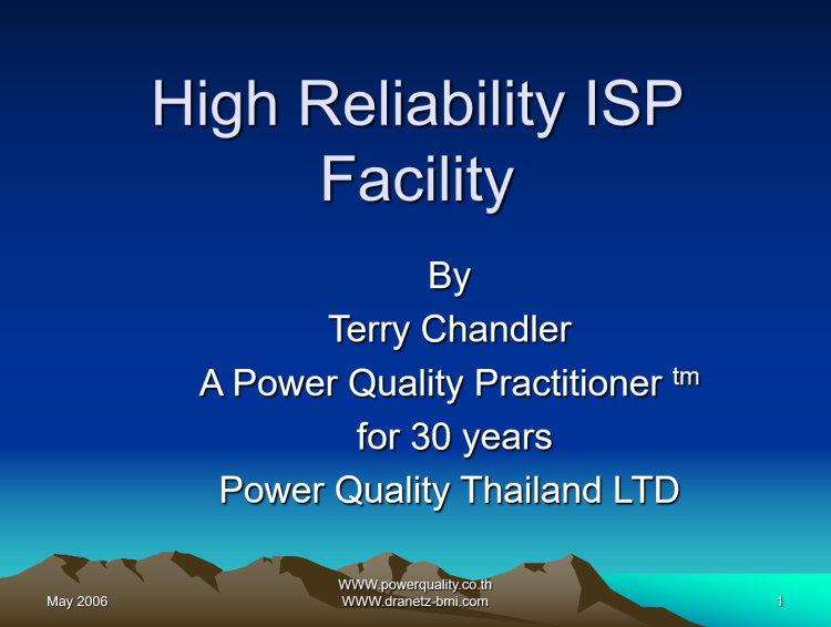 High Reliability ISP Facility_1