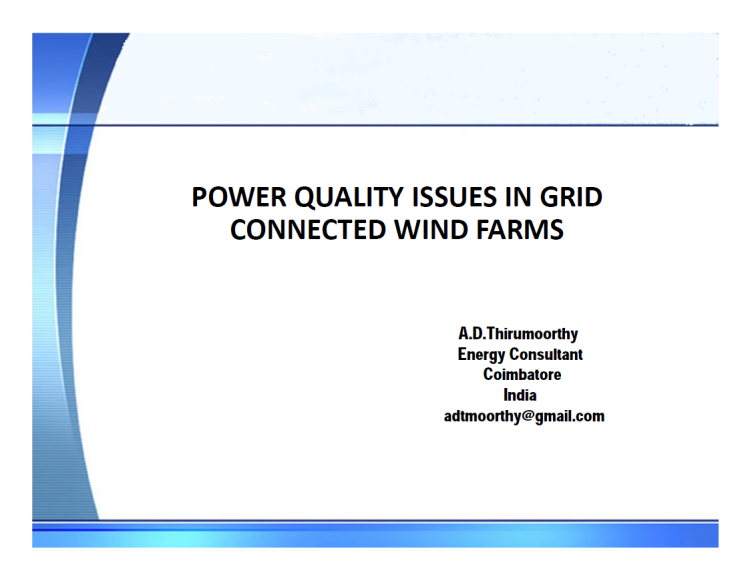 Power Quality Issues in Grid Connected Wind Farms India_1