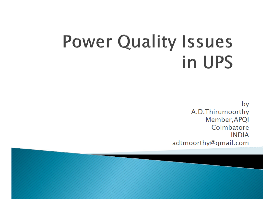 Power Quality Issues in UPS (India)_1