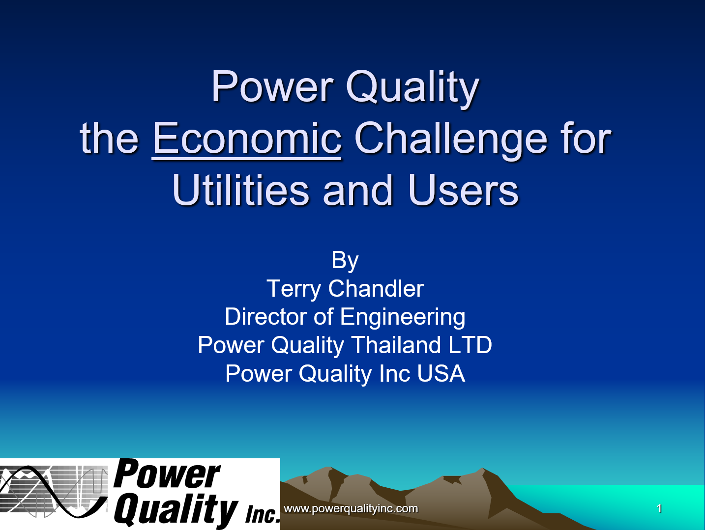 Power Quality the Economic Challenge for Utilities and Users_1