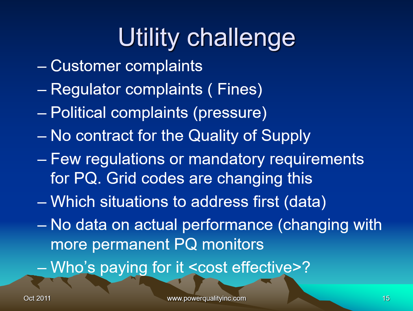 Power Quality the Economic Challenge for Utilities and Users_15