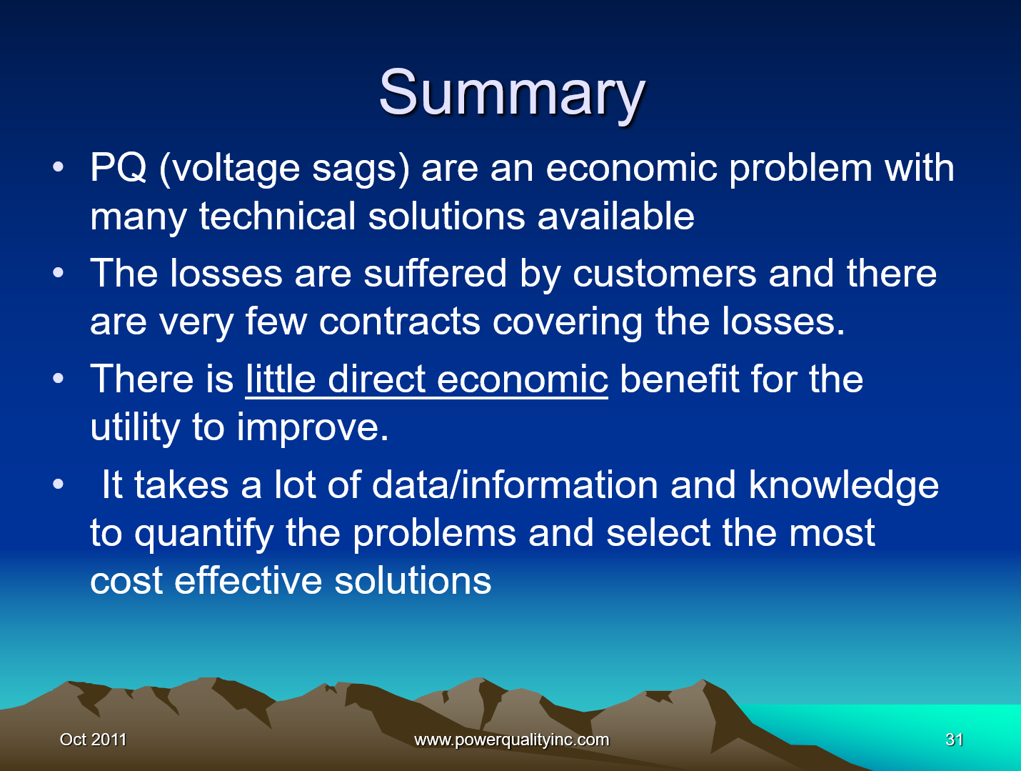 Power Quality the Economic Challenge for Utilities and Users_31