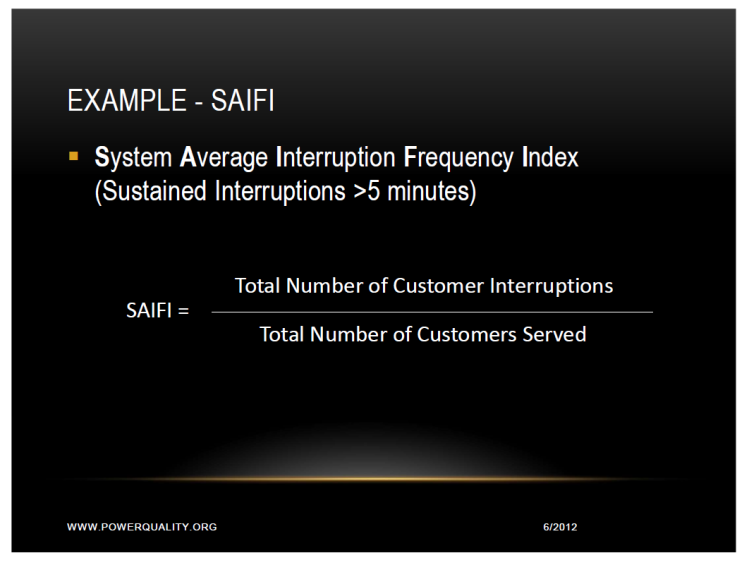 SAIFI SARFI and SARFI (x) Indexes for Power Reliability and Power Quality_2