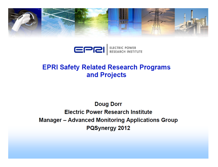 EPRI Safety Related Research Programs & Projects_1