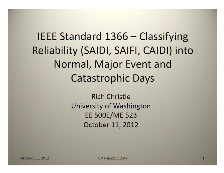 IEEE Standard 1366 – Classifying_1