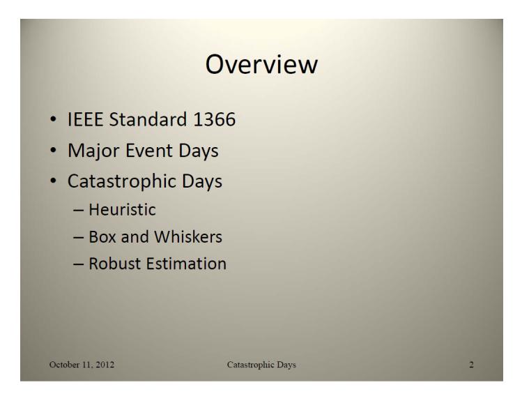 IEEE Standard 1366 – Classifying_2