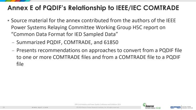 Overview of IEEE Standard 1159.3_24