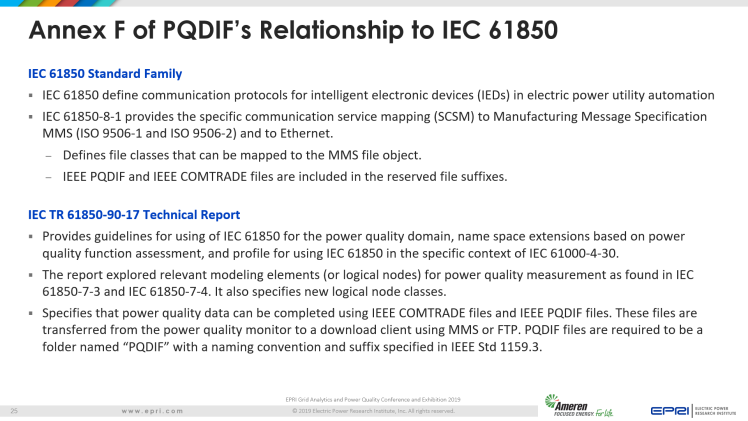 Overview of IEEE Standard 1159.3_25