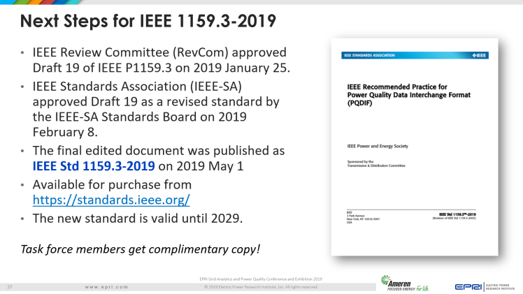 Overview of IEEE Standard 1159.3_27