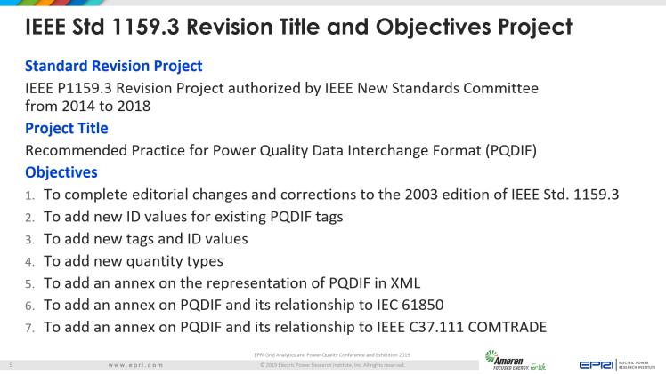 Overview of IEEE Standard 1159.3_5