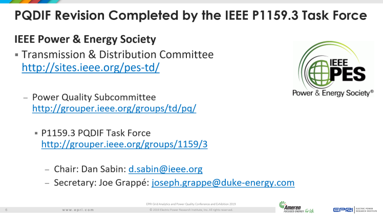 Overview of IEEE Standard 1159.3_6